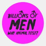 Witty anti men sticker
