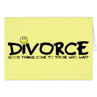 Witty divorce card