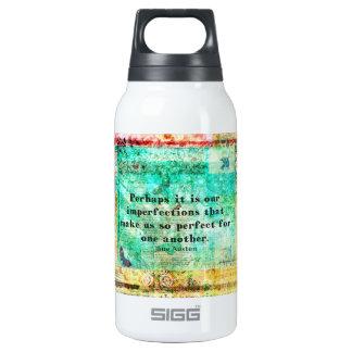 Witty Jane Austen quote Insulated Water Bottle