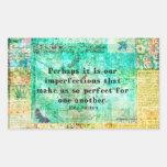 Witty Jane Austen quote Rectangle Sticker