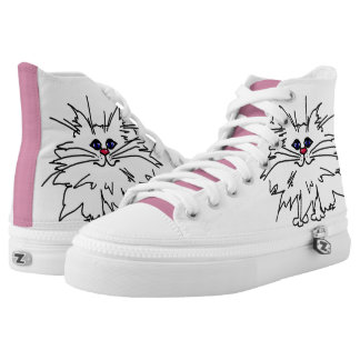Witty Kittie High Top Shoes