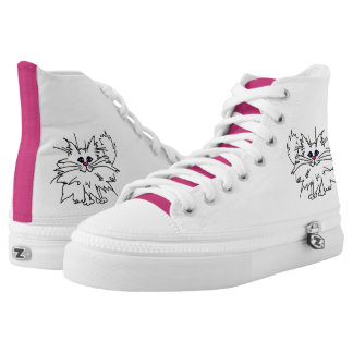 Witty Kitty High Top Zips Shoes