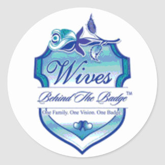 Wives Behind The Badge Classic Round Sticker