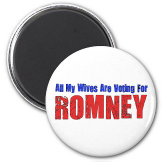 Wives For Romney 2 Inch Round Magnet
