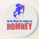 Wives For Romney Beverage Coasters