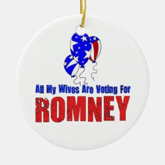 Wives For Romney Ceramic Ornament