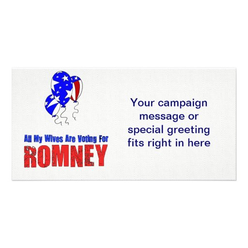 Wives For Romney Custom Photo Card
