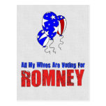 Wives For Romney Postcard