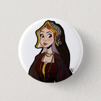 Wives of Henry VIII Badge - Catherine of Aragon Pinback Button
