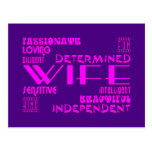 Wives Wedding Anniversary Birthday Party Qualities Postcard