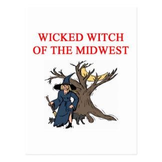 wixked witch joke postcard