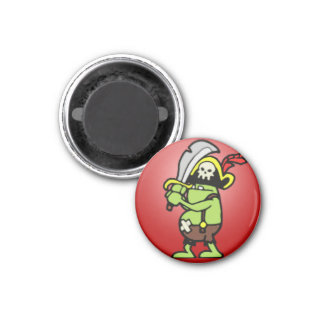 Wizard101 Doodle Pirate Gobbler 1 Inch Round Magnet