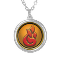 Wizard101 Fire Symbol Necklace