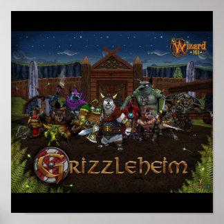 Wizard101 Grizzleheim Poster