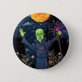 Wizard and Evil Raccoons Pinback Button