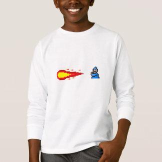 Wizard and Fireball spell pixel art T-Shirt