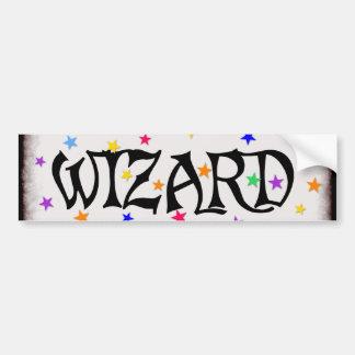 Wizard and Stars Car Bumper Sticker