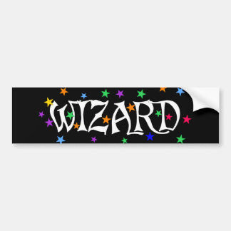 Wizard and Stars Bumper Sticker