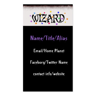 Wizard and Stars Business Card Template