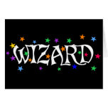 Wizard and Stars Greeting Cards