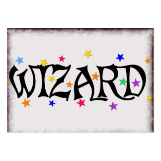 Wizard and Stars Large Business Card