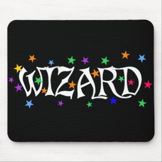 Wizard and Stars Mouse Pad