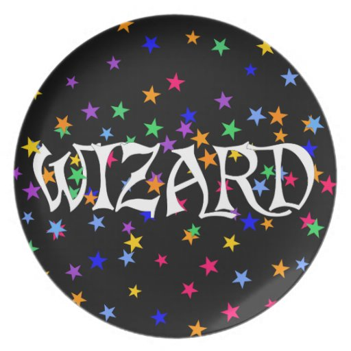 Wizard and Stars Plate