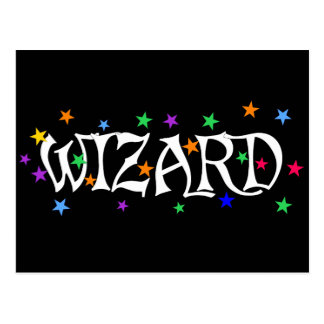 Wizard and Stars Post Cards