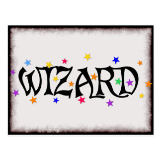 Wizard and Stars Postcard