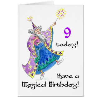 'Wizard' Birthday Card for a 9-year-old