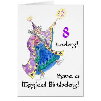'Wizard' Birthday Card for an 8-year-old