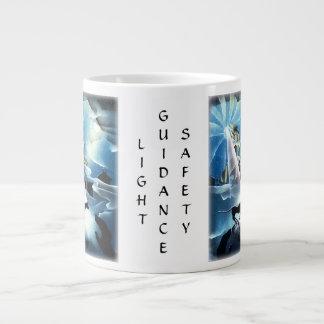 wizard, black cat, guiding light, inspirational giant coffee mug