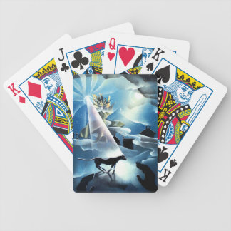 wizard, black cat, guiding light, playing cards