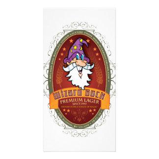 Wizard Bock Beer Label Card