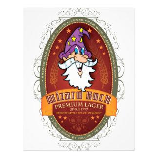 Wizard Bock Beer Label Flyer