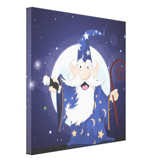 Wizard Stretched Canvas Print