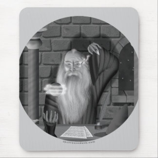 Wizard Casting a Spell Mouse Pad