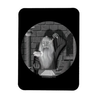 Wizard Casting a Spell Rectangle Magnet