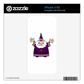 Wizard casting spell decal for iPhone 4