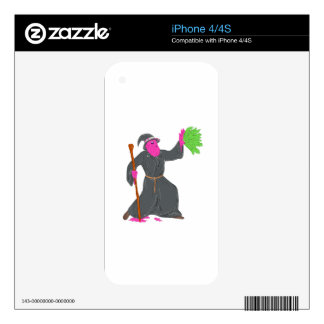 Wizard Casting Spell Grime Art iPhone 4S Skin