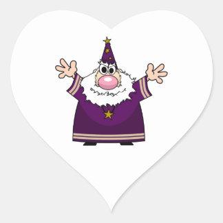 Wizard casting spell heart sticker