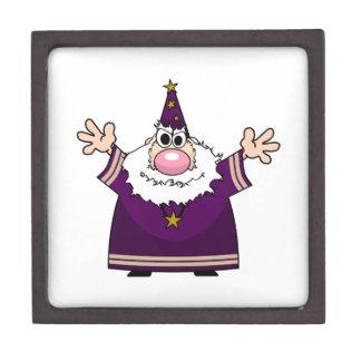 Wizard casting spell jewelry box