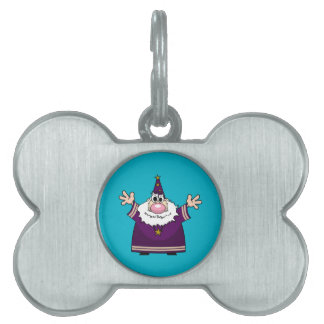 Wizard casting spell pet tag