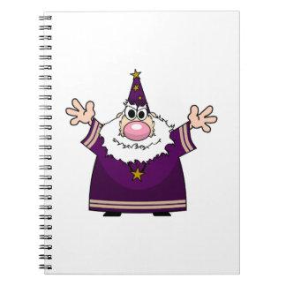 Wizard casting spell spiral notebook