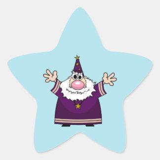 Wizard casting spell star sticker