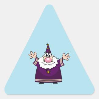 Wizard casting spell triangle sticker