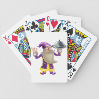Wizard chef or cook bicycle poker deck