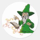 wizard classic round sticker