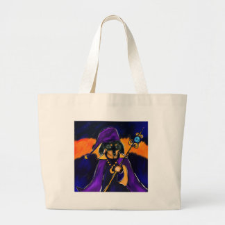 WIZARD DACHSHUND LARGE TOTE BAG