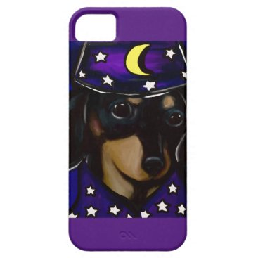 Halloween Themed Wizard Doxie iPhone SE/5/5s Case